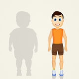 Overweight man lifestyle changes Royalty Free Stock Photos