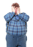 Overweight obese country yokel Stock Image