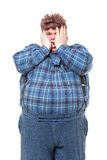 Overweight obese country yokel Stock Photos
