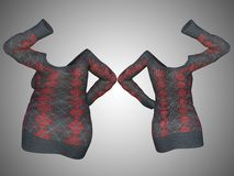 Overweight obese female sweater dress vs slim fit healthy body. Conceptual fat overweight obese female sweater dress vs slim fit healthy body after weight loss Royalty Free Stock Images
