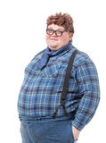 Overweight obese young man Royalty Free Stock Image