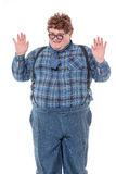 Overweight obese young man Royalty Free Stock Photos