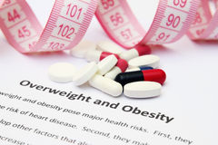 Overweight and obesity Stock Images