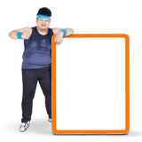 Overweight person and copyspace Stock Photography