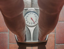 Overweight person Stock Photo