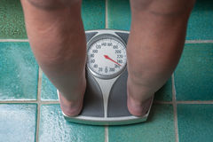 Overweight person Royalty Free Stock Image