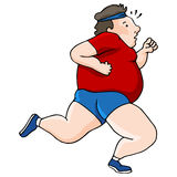 Overweight Runner Stock Photo