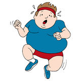 Overweight Runner. An image of an overweight runner Royalty Free Stock Photography