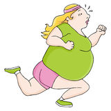 Overweight Runner Royalty Free Stock Photo