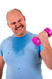 Overweight sportsman Royalty Free Stock Photo