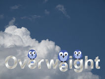 Overweight text Royalty Free Stock Image