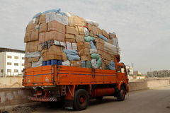 Overweight trucks in Egypt Royalty Free Stock Photos
