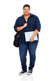 Overweight university student Royalty Free Stock Image