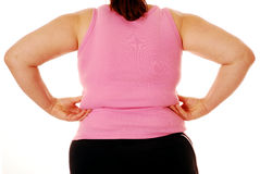 Overweight woman Stock Image