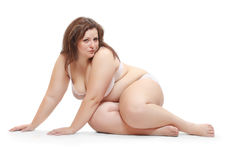 Overweight woman. Overweight woman dressed in bikini Stock Images