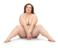 Overweight woman. Royalty Free Stock Photo