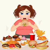 Overweight woman Stock Images