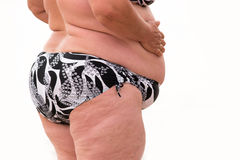 Overweight woman isolated. Royalty Free Stock Photography