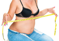 Overweight woman Royalty Free Stock Photography