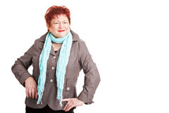 Overweight woman with scarf Royalty Free Stock Photography
