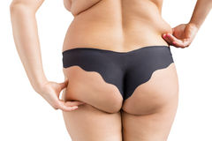 Overweight woman. On white background Stock Photo