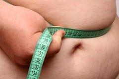 Overweight women stomach stock photo