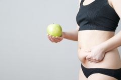 Overweight of the women Royalty Free Stock Photo