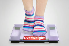 Overweight word Stock Images