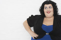 Overweight Young Woman Posing Stock Image