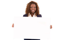 Overweighted  business woman Royalty Free Stock Photography