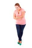 Overweighted kvinna Royaltyfri Bild