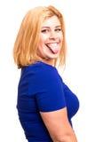 Overweighted kvinna arkivfoto