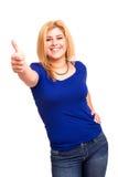 Overweighted kvinna royaltyfri fotografi