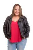 Overweighted kvinna arkivbilder