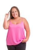 Overweighted kvinna arkivbild