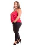 Overweighted kvinna royaltyfri foto