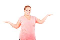 Overweighted vrouw Stock Afbeeldingen