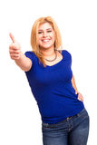 Overweighted woman Royalty Free Stock Photography
