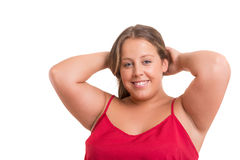 Overweighted woman Royalty Free Stock Image