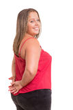 Overweighted woman Stock Images