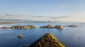 Overweldigend landschap van Flores-eilandarchipel Stock Afbeeldingen