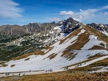 Overweldigend landschap van Tatra-Bergen, een deel van de Karpatische bergketting in Oost-Europa, tussen Slowakije en Polen royalty-vrije stock afbeelding