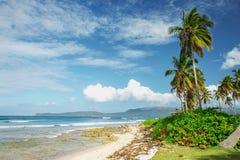Overweldigend mooi schilderachtig Caraïbisch landschap, Dominicaanse Republiek royalty-vrije stock foto