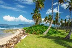 Overweldigend mooi schilderachtig Caraïbisch landschap, Dominicaanse Republiek royalty-vrije stock afbeelding