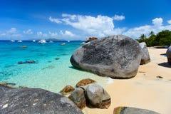 Overweldigend strand in de Caraïben Stock Afbeeldingen