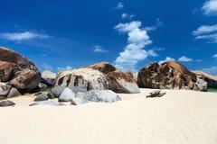 Overweldigend strand in de Caraïben Royalty-vrije Stock Afbeelding