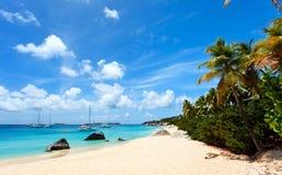 Overweldigend strand in de Caraïben Stock Foto's