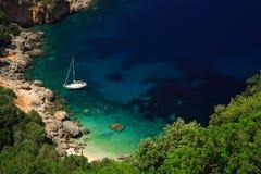Overweldigend strand Kefalonia Royalty-vrije Stock Foto's