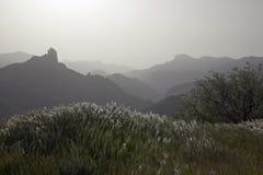 Overweldigende aard in de hooglanden Cruz de Tejeda in Gran Canaria, Canarische Eilanden onder Spaanse vlag stock foto's