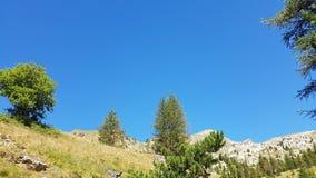 Overweldigende bergmeningen Stock Foto's